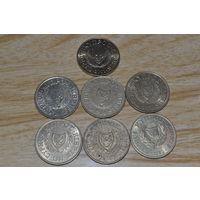 Кипр 20 центов (91,92,93,94,98,01)