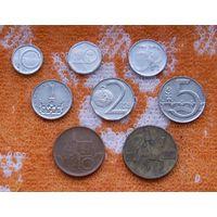 Чехия 10, 20, 50 геллер; 1, 2, 5, 10, 20 крон.