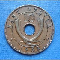 Восточная Африка Британская колония 10 центов 1952