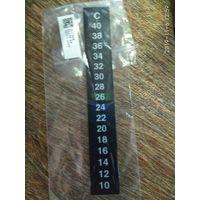 Новый термометр - наклейка для аквариума.