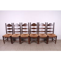 Комплект из 5 дубовых стульев.Бельгия.Art-708.