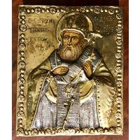 Икона Святитель Арсений Сербский, епископ. Москва. Оклад 18 века