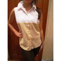 Блуза цвет -копучино-бело-кремовый р.46-48