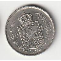 Румыния 100 лей 1938 года. Более редкий год. Краузе KM# 54. Состояние aUNC!