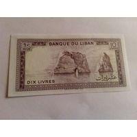 Ливан 10 ливров состояние UNC