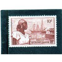Франция. Гваделупа. Mi:GP 214. Девушка в гавани Басс-тер.1947.