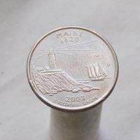 США 25 центов 2003 P Мэн