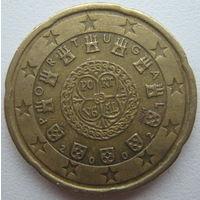 Португалия 20 евроцентов 2002 г.