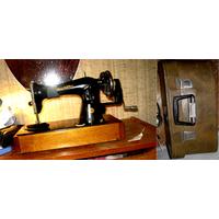 Ручная швейная машина машинка Подольск Чайка Рабочая СССР Винтаж В кофре/чемодане