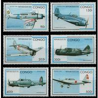 1996 Конго Браззавиль 1484-1489 Самолеты 8,00евро
