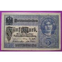 Германия 5 марок 1917. VF