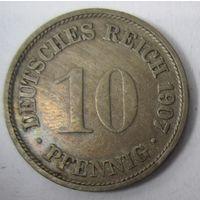 Германия. 10 пфеннигов 1907 F . 1-55