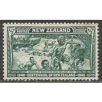 Новая Зеландия. Прибытие племени Маори в Н.Зеландию. 1940г. Mi#253.