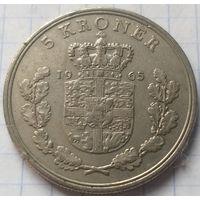 Дания 5 крон, 1965         ( 7-5-4 )