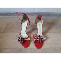 Босоножки, туфли, размер 36, красные. Polivi. Италия.