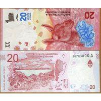 Аргентина 20 песо образца 2017 года UNC p361