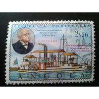 Ангола, колония Португалии 1969 адмирал, пароход