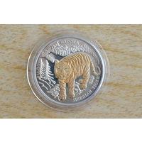 Либерия 10 долларов 2004  Сибирский тигр