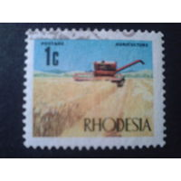 Родезия 1970 стандарт, комбайн в поле