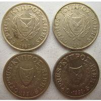 Кипр 1 цент 1987, 1988, 1994, 1998 гг. Цена за 1 шт. (g)