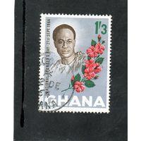 Гана. День независимости 21 сентября. Цветы. 1964.