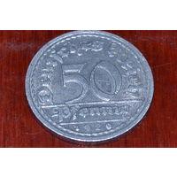 50 пфеннигов 1920J Германия КМ# 27 алюминий