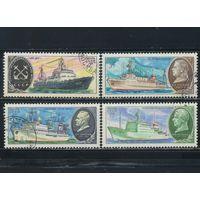 СССР 1980 Научно-исследовательский флот #5062-3,5065,5067