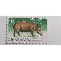 Никарагуа 1990. 45-летие ФАО. Животные