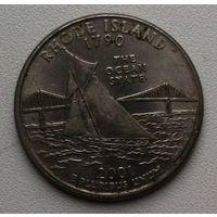 25 центов США 2001г