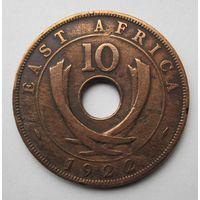 Британская Восточная Африка 10 центов 1922