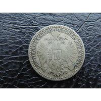 Австрия 10 крейцеров 1869г. Серебро.