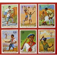Гвинея. Пионеры. ( 6 марок ) 1974 года.
