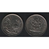 Южная Африка (ЮАР) _km86 20 центов 1971 год (b06)