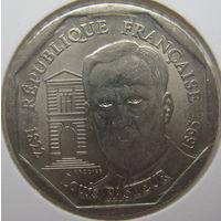 Франция 2 франка 1995 г. 100 лет со дня смерти Луи Пастера. В холдере (gk)