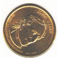1 доллар 2009г. 10-ый президент Джон Тайлер.