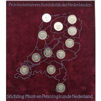 Нидерланды Набор 5 центов, 12 монет-,12 Провинций, 1981