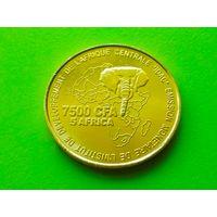 Камерун. 7500 франков 2006 - Свадьба. Нечастая коллекционная монета!!!