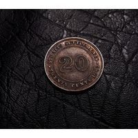 Стрейтс Сетлментс 20 центов 1902 (СЕРЕБРО)