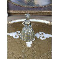 Колокольчик бронзовый Старинный бронза дама ручной работы