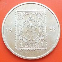 Памятный жетон - Почта Нидерланды -100 лет выпуска первой почтовой марки 1898 - 1998 гг