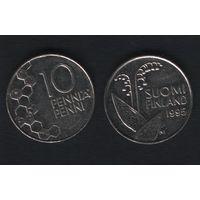 Финляндия km65 10 пенни 1995 год (M) (f37)