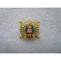Знак юбилейный. ФИНАНСОВАЯ СЛУЖБА МВД РОССИИ 95 ЛЕТ. Логотип эмблема. Цанга латунь.