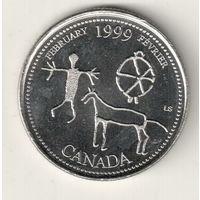 Канада 25 цент 1999 Февраль