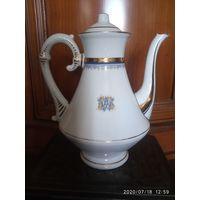 Королевский  фарфор . Чайник с монограммой .