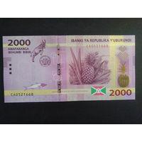 2000 франков 2015 года. Бурунди. UNC