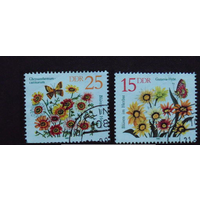 ГДР 1982г. Флора. Фауна бабочки