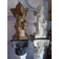 ФОРМЫ Ангела и Девы 2 шт + 5 шт вспомогательных форм двух птичек и трёх цветков