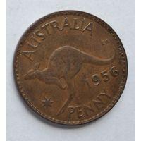 Австралия 1 пенни, 1956 Без точки 3-13-12