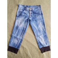 Бриджи джинсовые б/у, р. 38-40