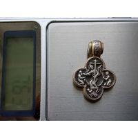 Крестик серебряный старинный